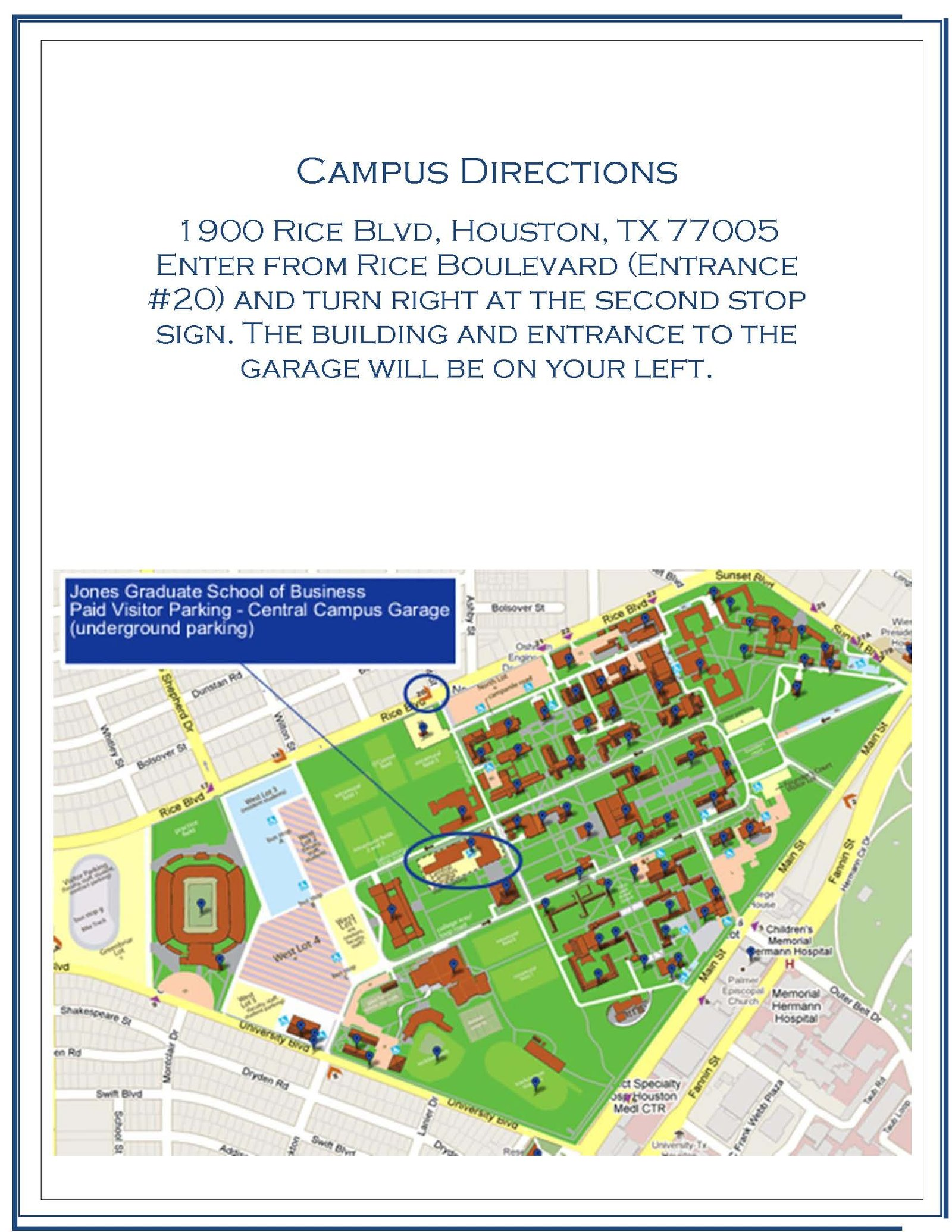 Campus Directions